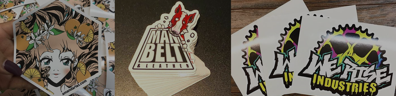 custom full color vinyl stickers