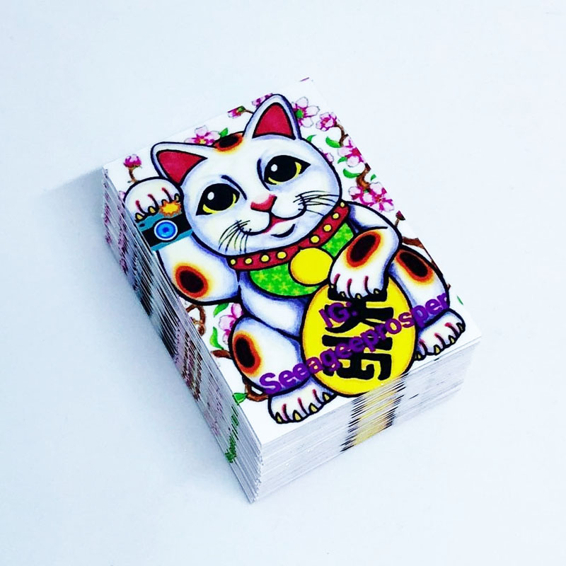 rectangle laminated stickers
