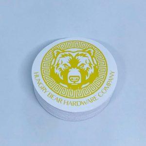 circle laminated stickers