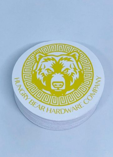 circle laminated stickers